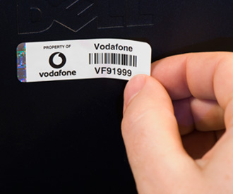 Applying Vodafone Asset Labels by Hand