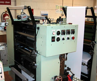 Photo of cheque printing press