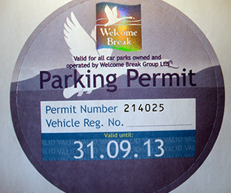Security Parking Permit printed with Hologram & Numbering